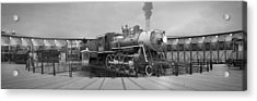 The Turntable And Roundhouse Acrylic Print by Mike McGlothlen