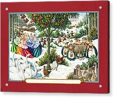 The Twelve Days Of Christmas Acrylic Print by Lynn Bywaters