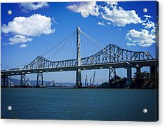 The Two Bridges Acrylic Print by SFPhotoStore