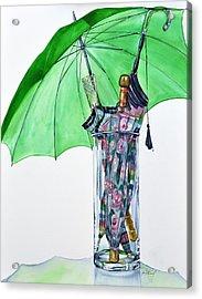 The Umbrella Plan Acrylic Print by Jane Loveall