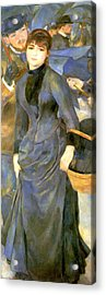 The Umbrellas Details Acrylic Print by Pierre Auguste Renoir