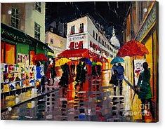 The Umbrellas Of Montmartre Acrylic Print by Mona Edulesco