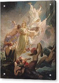 The Undines Or The Voice Of The Torrent Acrylic Print by Ernest Augustin Gendron