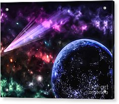 The Undiscovered Planet  Acrylic Print by Naomi Burgess