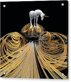 The Unicorns Golden Path Acrylic Print by Michael Durst