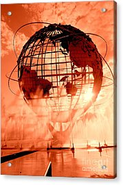 The Unisphere And Fountains Acrylic Print