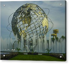 The Unisphere Acrylic Print by Theodore Jones