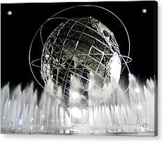 The Unisphere's 50th Anniversary Acrylic Print by Ed Weidman