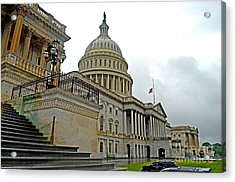 The United States Capitol Acrylic Print by Jim Fitzpatrick