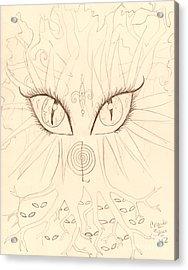 The Universal Tree Sketch Acrylic Print by Coriander  Shea