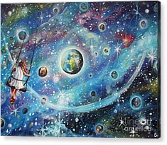 The Universe Is My Playground Acrylic Print by Dariusz Orszulik