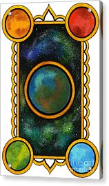 The Universe Acrylic Print by Nora Blansett