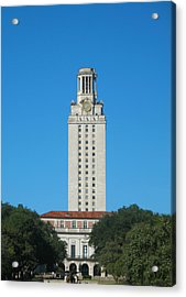 The University Of Texas Tower Acrylic Print by Connie Fox