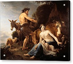 The Upbringing Of Zeus Acrylic Print by Nicolaes Pietersz Berchem