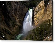 The Upper Falls Acrylic Print by Terry Horstman