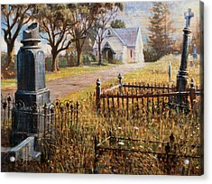 The Upward Path  Waikumete Cemetery  Auckland Acrylic Print