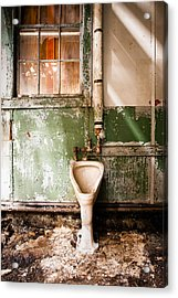 Acrylic Print featuring the photograph The Urinal by Gary Heller