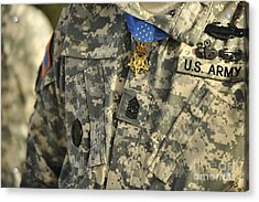 The U.s. Army Medal Of Honor Is Worn Acrylic Print by Stocktrek Images