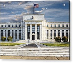 The Us Federal Reserve Board Building Acrylic Print by Susan Candelario
