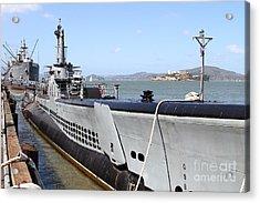 The Uss Pampanito Submarine At Fishermans Wharf . San Francisco California . 7d14417 Acrylic Print by Wingsdomain Art and Photography