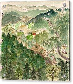 The Valley Beneath Mcleod Acrylic Print by Jennifer Mazzucco