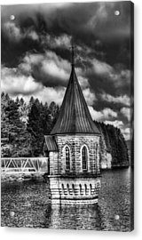 The Valve Tower Mono Acrylic Print by Steve Purnell