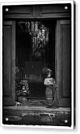 The Vendor Children Acrylic Print by Tom Bell