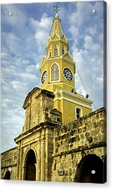 The Venerable Clock Tower, Torre Del Acrylic Print
