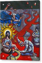 The Veneration Of Counterfeit Gods Acrylic Print by Paul Hilario