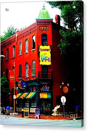 The Venice Cafe' Edited Acrylic Print