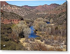 The Verde River In The Verde Canyon Arizona Acrylic Print
