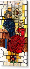 The Vermeer Acrylic Print by Gilroy Stained Glass
