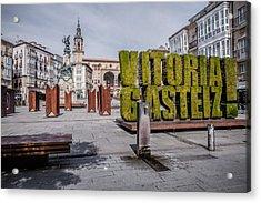 The Vertical Garden In Vitoria-gasteiz Acrylic Print by Salima Senyavskaya