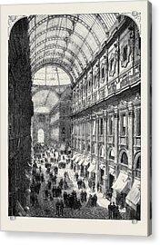 The Victor Emmanuel Gallery Acrylic Print by English School