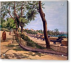 The Victoria Battery, Gibraltar, Print Acrylic Print by Captain J. M. Carter