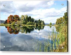 The View Across The Lake Acrylic Print