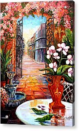 The View From A Courtyard Acrylic Print by Diane Millsap