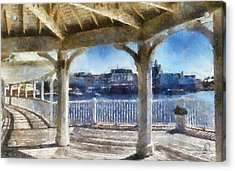 The View From The Boardwalk Gazebo Wdw 02 Photo Art Acrylic Print by Thomas Woolworth