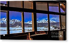 The View From The Sawtooth Valley Meditation Chapel Acrylic Print by Robert Bales