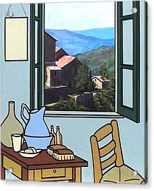 The View From Vincent's Room. Sold Acrylic Print by Kenneth North