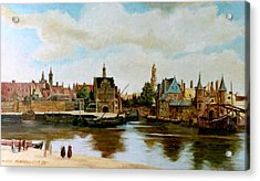 The View Of Delft Acrylic Print by Henryk Gorecki