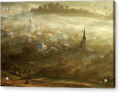The Village Born From Fog... Acrylic Print