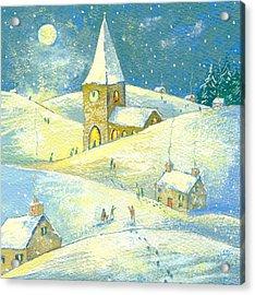 The Village Carol Service Acrylic Print by David Cooke