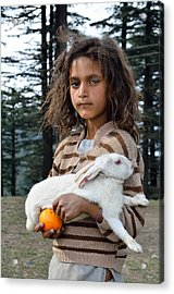 The Village Girl Acrylic Print by Fotosas Photography