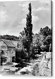 The Village Of Illiers-combray In France Acrylic Print by Erwin Blumenfeld