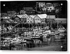 The Village Pier Acrylic Print by Melinda Ledsome