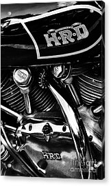 The Vincent Hrd Motorcycle Monochrome Acrylic Print