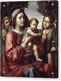 The Virgin And Child, Saint John The Baptist And An Angel Acrylic Print