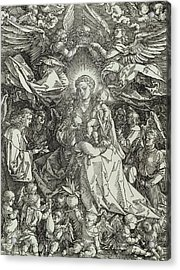 The Virgin And Child Surrounded By Angels Acrylic Print