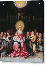 The Virgin And Child Surrounded Acrylic Print by Cornelis de I Baellieur